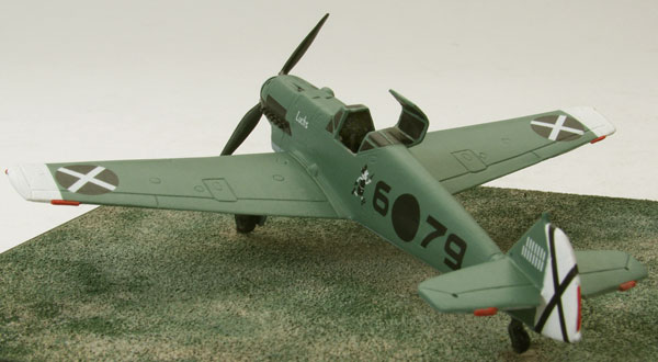 Messerschmitt Bf 109D-1 1/72 scale pewter limited edition aircraft model as flown in the Spanish Civil War. Handmade by Staples and Vine Ltd.