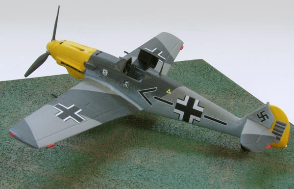 Messerschmitt Bf 109E-4/N of Adolf Galland 1/72 scale pewter limited edition aircraft model as flown in the Battle of Britain. Handmade by Staples and Vine Ltd.