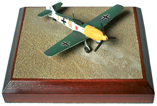 Messerschmitt Bf 109E-3 1/144 scale pewter limited edition aircraft model as flown in the Battle of Britain. Handmade by Staples and Vine Ltd.