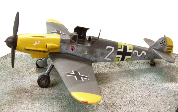 Messerschmitt Bf 109F-2 1/72 scale pewter limited edition aircraft model as flown on the Eastern Front. Handmade by Staples an Vine Ltd.