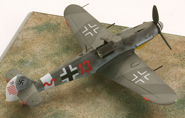 Messerschmitt Bf 109G-6 1/72 scale pewter limited edition aircraft model flown by Heinrich Bartels. Handmade by Staples and Vine Ltd.