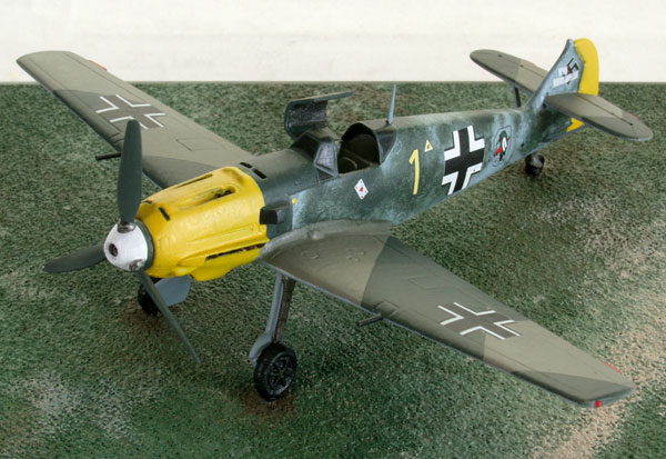 Messerschmitt Bf 109E-3 1/72 scale pewter limited edition aircraft model from the Battle of Britain. Handmade by Staples and Vine Ltd.