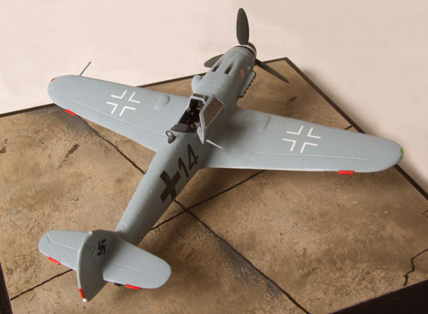 Messerschmitt Bf 109G-6/AS 1/72 scale pewter limited edition aircraft model. The high altitude variant of the 109. Handmade by Staples and Vine Ltd.