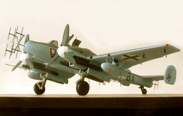 Messerschmitt Bf 110G-4 1/72 scale pewter limited edition aircraft model as flown by nightfighter ace Wolfgang Schnaufer. Handmade by Staples and Vine Ltd.