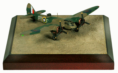 Bristol Blenheim Mk I 1/144 scale pewter limited edition aircraft model as flown by Sqn Ldr Scarf who was awarded the Victoria Cross. Handmade by Staples and Vine Ltd.