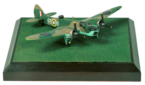 Bristol Blenheim Mk IV 1/144 scale pewter limited edition aircraft model of the aircraft flown by T N Staples which sighted the Lutzow. Handmade by Staples and Vine Ltd.
