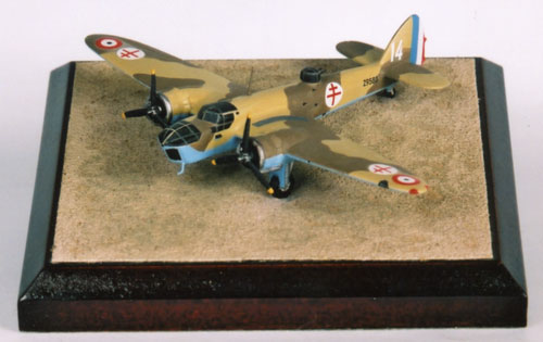 Bristol Blenheim Mk IV 1/144 scale pewter limited edition aircraft model as flown by the Free French Air Force in North Africa. Handmade by Staples and Vine Ltd.