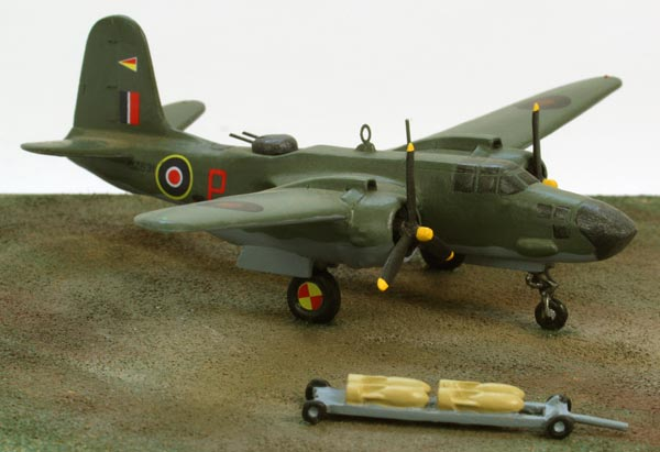 Douglas Boston Mk V 1/144 scale pewter limited edition aircraft model based in Italy in 1944. Handmade by Staples and Vine Ltd.