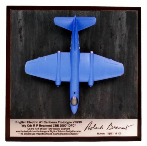 English Electric Canberra Prototype 1/144 scale pewter limited edition aircraft model as flown by Roland Beamont in 1949. Handmade by Staples and Vine Ltd.