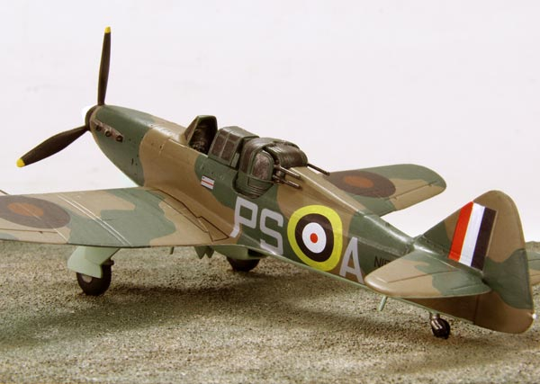 Boulton Paul Defiant Mk I 1/72 scale pewter limited edition aircraft model. The turreted fighter from the Battle of Britain. Handmade by Staples and Vine Ltd.