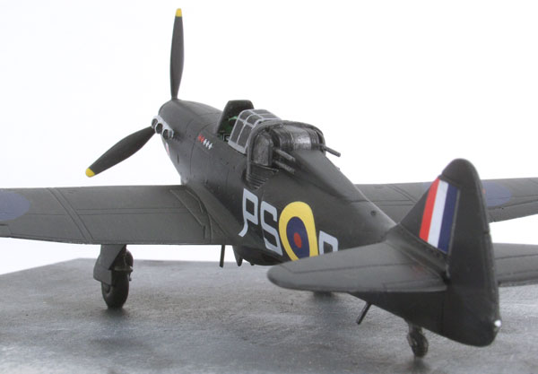 Boulton Paul Defiant Nightfighter 1/72 scale pewter limited edition aircraft model in an all black scheme. Handmade by Staples and Vine Ltd.