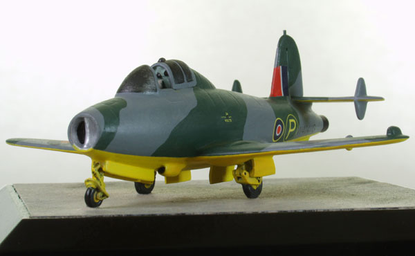 Gloster E.28/39 1/72 scale pewter limited edition aircraft model of the first British jet aircraft. Handmade by Staples and Vine Ltd.