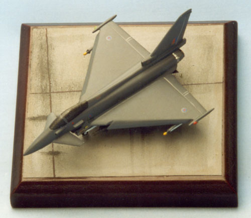 Eurofighter Typhoon 1/144 scale pewter limited edition aircraft model. Handmade by Staples and Vine Ltd. to commemorate the 80th anniversary of the RAF.
