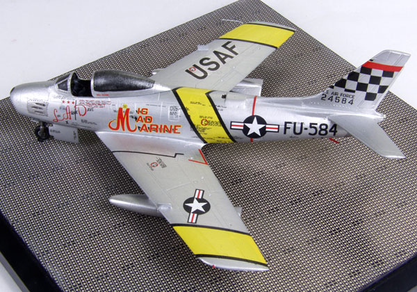 North American F-86F Sabre 1/72 scale pewter limited edition aircraft model as flown by John Glenn. Handmade by Staples and Vine Ltd.