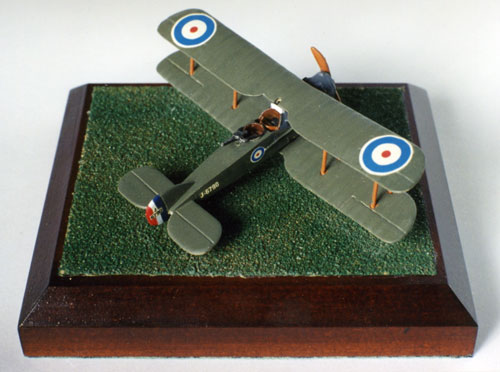 Bristol F2B 1/144 scale pewter limited edition aircraft model handmade by Staples and Vine to commemorate the 80th anniversary of the RAF.