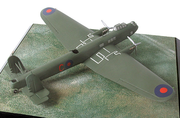 Fairey Hendon Mk I 1/144 scale pewter limited edition aircraft model. The first monoplane bomber to enter service with the RAF. Handmade by Staples and Vine Ltd.