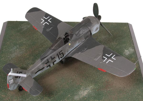 Focke Wulf Fw 190A-8 1/72 scale pewter limited edition aircraft model as flown in the final days of WW II. Handmade by Staples and Vine Ltd.
