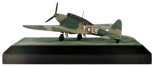 Fairey Battle Mk I 1/144 scale pewter limited edition aircraft model as flown by Hugh George in the Battle of France. Handmade by Staples and Vine Ltd.