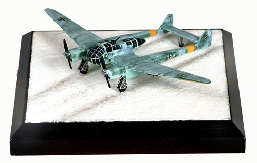 Focke Wulf Fw 189A-1 1/144 scale pewter limited edition aircraft model as used on the Eastern Front. Handmade by Staples and Vine Ltd.