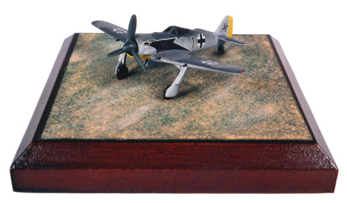 Focke Wulf Fw 190A-4 1/144 scale pewter limited edition aircraft model. An early 'Butcher Bird'. Handmade by Stapes and Vine Ltd.