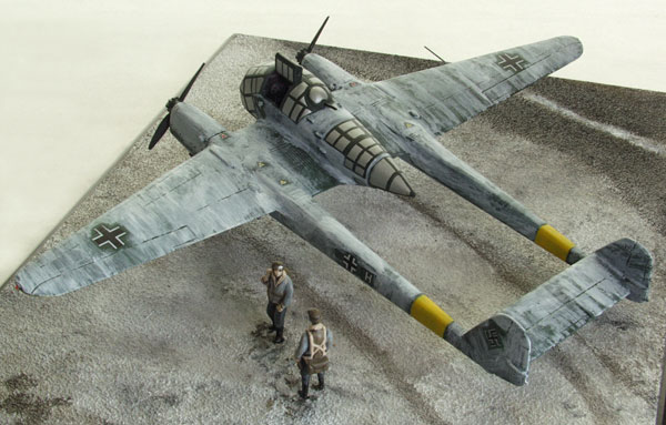 Focke Wulf Fw 189A-1 1/72 scale pewter limited edition aircraft model. The Luftwaffe twin boomed reconnaissance aircraft. Handmade by Staples and Vine Ltd.