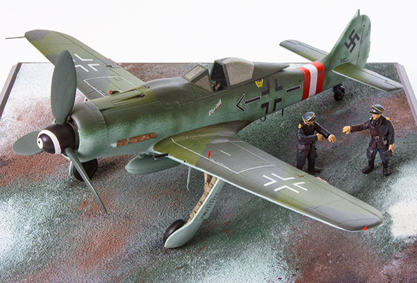 Focke Wulf Fw 190D-9 1/48 scale limited edition pewter aircraft model as flown by Luftwaffe ace Gerhard Barkhorn. Handmade by Staples and Vine Ltd.