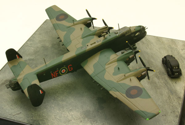 Handley Page Halifax 1/144 scale pewter limited edition aircraft model. As used by SOE to drop and supply agents. Handmade by Staples and Vine Ltd.