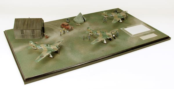 Battle of France 1/72 scale limited edition diorama of Hawker Hurricanes from the Battle of France. Handmade by Staples and Vine Ltd.
