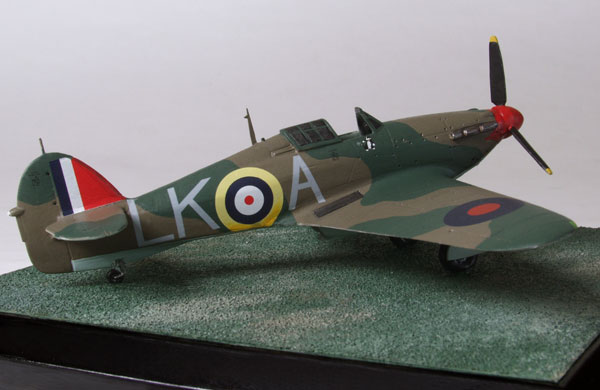 Hawker Hurricane Mk I in 1/72 scale limited edition pewter aircraft model as flown by Battle of Britain ace Ian 'Widge' Gleed handmade by Staples and Vine Ltd.