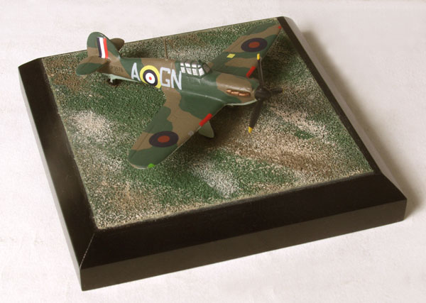 Hawker Hurricane Mk I J B Nicolson 1/144 scale pewter limited edition aircraft model as flown by Fighter Command's only Victoria Cross holder. Handmade by Staples and Vine Ltd.