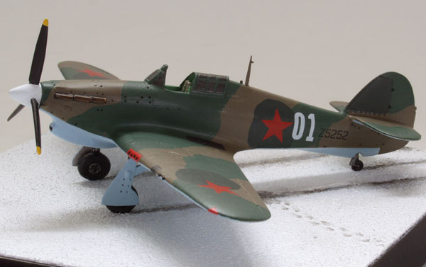 Hawker Hurricane Mk IIB 1/72 scale pewter limited edition aircraft model as flown by the Russian Air Force. Handmade by Staples and Vine Ltd.