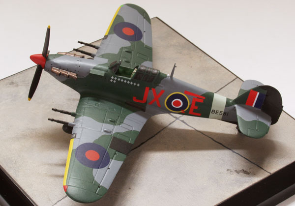Hawker Hurricane Mk IIC 1/72 scale pewter limited edition aircraft model. The night intruder of Karel Kuttlewascher. Handmade by Staples and Vine Ltd.