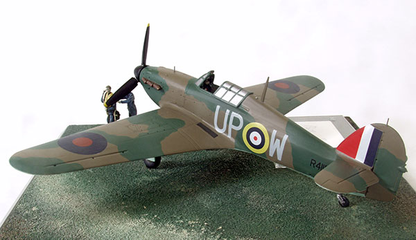 Hawker Hurricane Mk I in 1/48 scale signed limited edition as flown in the Battle of Britain by Bob Foster. Handmade in pewter by Staples and Vine Ltd..