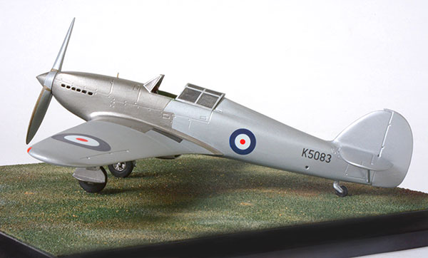 Hawker Hurricane Prototype in 1/48 scale as first flown on its maiden flight. Handmade limited edition of 50 only in pewter by Staples and Vine Ltd.