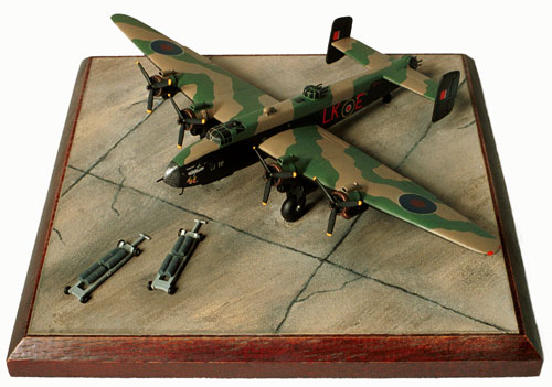 Handley Page Halifax Mk III 1/144 scale pewter limited edition aircraft model. As flown by Cyril Barton who was awarded the Victoria Cross. Handmade by Staples and Vine Ltd.