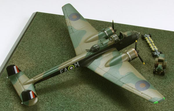 Handley Page Hampden Mk I 1/144 scale pewter limited edition aircraft model as flown by R A B Learoyd who was awarded the Victoria Cross. Handmade by Staples and Vine Ltd.