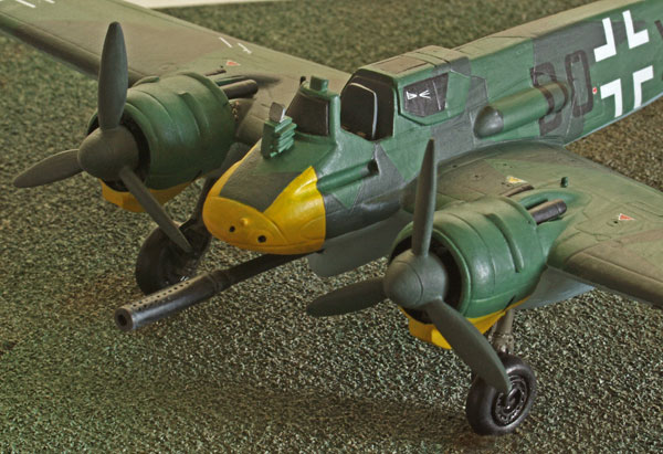 Henschel Hs 129B-3 1/72 scale pewter limited edition aircraft model. The Luftwaffe tankbuster with 75mm cannon. Handmade by Staples and Vine Ltd.