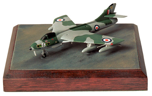 Hawker Hunter F6A 1/144 scale pewter limited edition aircraft model as flown by 26 Squadron RAF. Handmade by Staples and Vine Ltd.