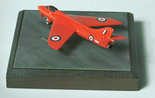 Hawker Hunter WB188 1/144 scale pewter limited edition aircraft model as used to break the air speed record. Handmade by Staples and Vine Ltd.