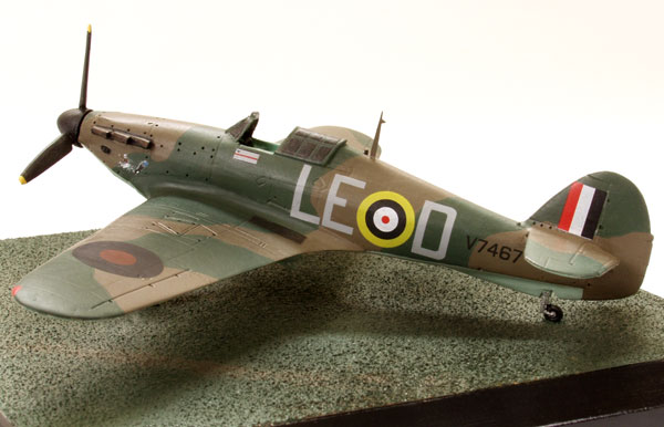 Hawker Hurricane Mk I of Douglas Bader 1/72 scale pewter limited edition aircraft model. Handmade by Staples and Vine Ltd.