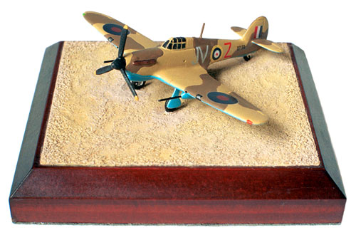 Hawker Hurricane Mk IID 1/144 scale pewter limited edition aircraft model. A tankbuster from the famous 6 Squadron RAF. Handmade by Staples and Vine Ltd.