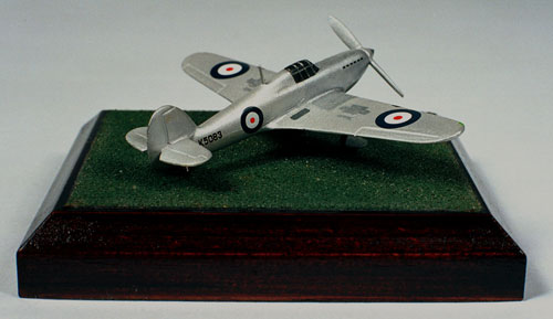 Hawker Hurricane Prototype 1/144 scale pewter limited edition aircraft model in the all silver development scheme. Handmade by Staples and Vine Ltd.