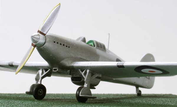Hawker Hurricane Prototype 1/72 scale pewter limited edition aircraft model. The first of many. Handmade by Staples and Vine Ltd.