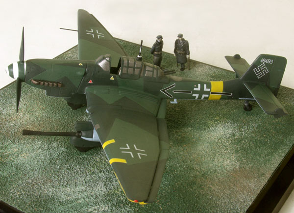 Junkers Ju 87G-2 'Stuka' 1/72 scale pewter limited edition aircraft model. The famous tankbuster of Hans Ulrich Rudel. Handmade by Staples and Vine Ltd.
