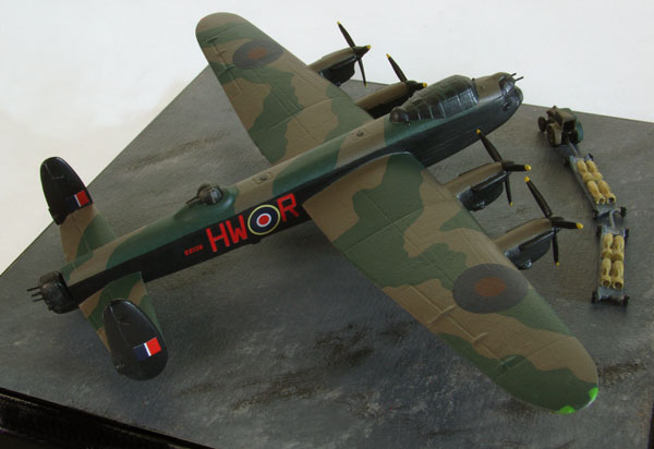 Avro Lancaster B MK III 'Phantom of the Ruhr' 1/144 scale pewter limited edition aircraft model. Handmade by Staples and Vine Ltd.