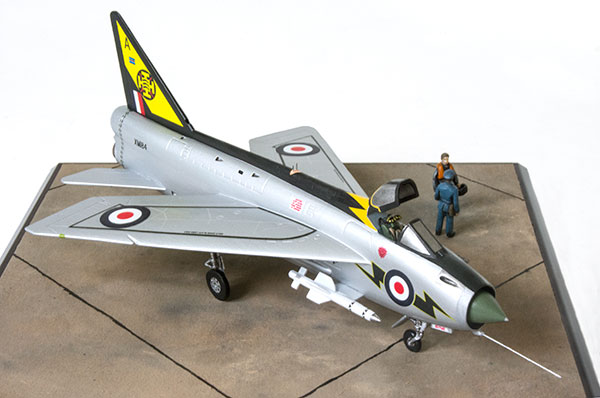 English Electric Lightning F Mk 1A 1/72 scale pewter limited edition aircraft model in the striking 111 Squadron scheme. Handmade by Staples and Vine Ltd.