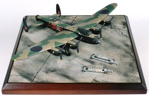 Avro Lancaster B MK III 1/144 scale pewter limited edition aircraft model as flown by Bill Reid VC. Handmade by Staples and Vine Ltd.