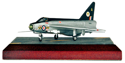 English Electric Lightning F1A 1/144 scale pewter limited edition aircraft model in the stunning 74 'Tiger' squadron markings. Handmade by Staples and Vine Ltd.
