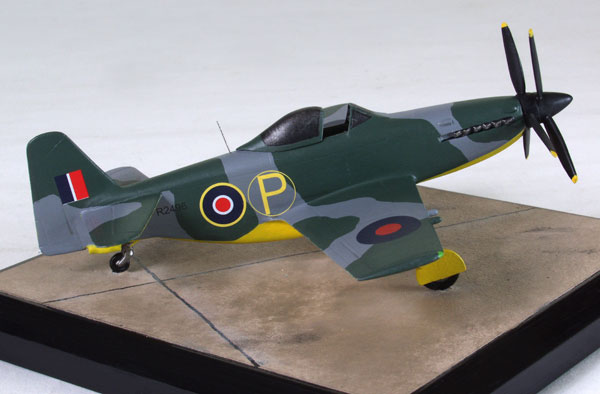 Martin Baker MB 5 1/72 scale pewter limited edition aircraft model. The enigmatic fighter prototype by Martin Baker. Handmade by Staples and Vine Ltd.