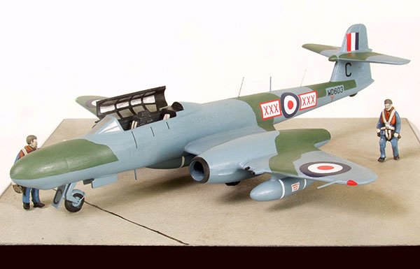 Armstrong Whitworth Meteor NF Mk 11 1/72 scale pewter limited edition aircraft model. This 1950s nightfighter is handmade by Staples and Vine Ltd.